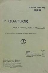 1er quatuor pour 2 violons, alto et violoncelle - Claude Debussy -  AA.VV. - Otras editoriales