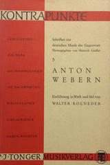 Kontrapunkte 5. Anton Weber -  AA.VV. - Otras editoriales