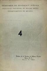 Boletín de la sección de música escolar ( #4) -  AA.VV. - Otras editoriales