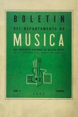 Boletín del departamento de música del  Instituto Nacional de Bellas Artes -  AA.VV. - Otras editoriales