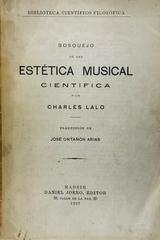 Bosquejo de una estética musical científica  - Charles Lalo -  AA.VV. - Otras editoriales