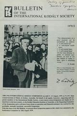 Bulletin of the International Kodaly Society 1979/2 -  AA.VV. - Otras editoriales