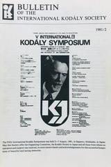 Bulletin of the International Kodaly Society 1981/2 -  AA.VV. - Otras editoriales