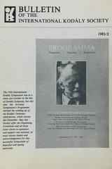 Bulletin of the International Kodaly Society 1983/2 -  AA.VV. - Otras editoriales
