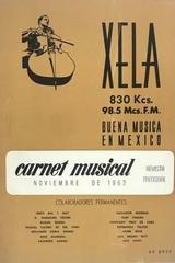 Carnet musical (noviembre) -  AA.VV. - Otras editoriales