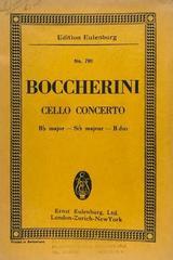 Cello concertoBB major - Boccherini -  AA.VV. - Otras editoriales