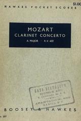 Clarinet concerto a major k.v. 622 - Mozart -  AA.VV. - Otras editoriales