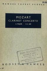 Clarinet concerto a major k.v. 622 - Mozart -  AA.VV. - Otras editoriales