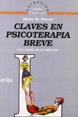 Claves en psicoterapia breve - Steve de Shazer - Editorial Gedisa