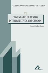 Comentario de textos interpretativos y de opinión - Asunción Ecribano - Arco