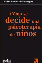Cómo se decide una psicoterapia de niños -  AA.VV. - Editorial Gedisa