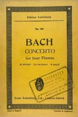 Concerto for 4 pianos A minor - Bach -  AA.VV. - Otras editoriales