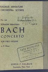 Concerto for two violins in D minor  - Johann Sebastian Bach -  AA.VV. - Otras editoriales