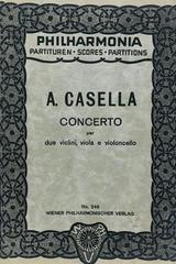 Concerto per due violini, viola e violoncello  - Alfredo Casella -  AA.VV. - Otras editoriales