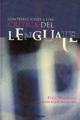 Contribuciones a una crítica del lenguaje - Fritz Mauthner - Herder