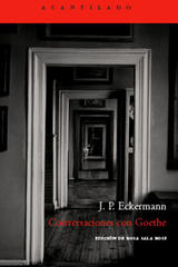 Conversaciones con Goethe - J.P. Eckermann - Acantilado