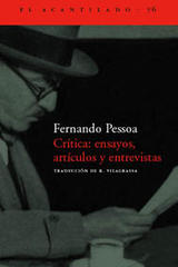 Crítica: ensayos, artículos y revistas - Fernando Pessoa - Acantilado