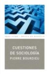 Cuestiones de sociología - Pierre Bourdieu - Akal