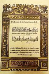 Declaración de instrumentos musicales -  AA.VV. - Maxtor