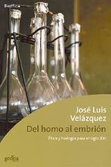 Del Homo al embrión - José Luís Velázquez - Editorial Gedisa