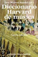 Diccionario Harvard de música - Don Michael Randel - Alianza editorial