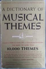 A dictionary of musical themes -  AA.VV. - Otras editoriales