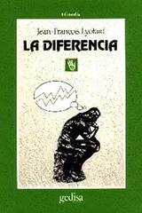 La diferencia - Jean-François Lyotard - Editorial Gedisa
