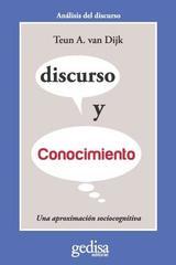 Discurso y conocimiento - Teun A. Van Dijk - Editorial Gedisa