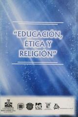 Educación, ética y religión: congreso nacional de filosofía -  AA.VV. - Ibero