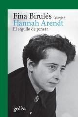 Hannah Arendt - Fina Birulés - Editorial Gedisa