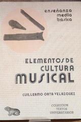 Elementos de cultura musical - Guillermo Orta Velázquez - Porrúa