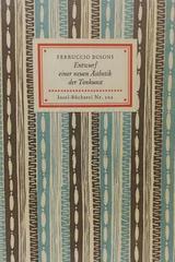 Entwurf einer neuen asthetik der    - Ferruco Busoni -  AA.VV. - Otras editoriales