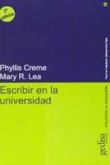 Escribir en la universidad -  AA.VV. - Editorial Gedisa