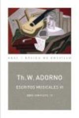 Escritos musicales VI - Theodor W. Adorno - Akal