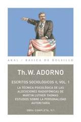 Escritos sociológicos II, 1 - Theodor W. Adorno - Akal