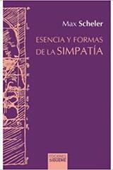 Esencia y formas de la simpatía - Max Scheler - Ediciones Sígueme