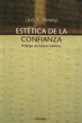 Estética de la confianza - Lluís Duch - Herder