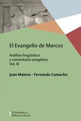 El Evangelio de Marcos Vol. III -  AA.VV. - Herder