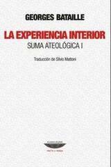 La experiencia interior - Georges Bataille - Cuenco de plata
