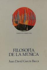 Filosofía de la música - Juan David García Bacca -  AA.VV. - Otras editoriales