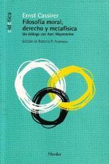 Filosofía moral, derecho y metafísica - Ernst Cassirer - Herder