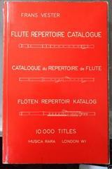 Flute repertoire catalogue -  AA.VV. - Otras editoriales