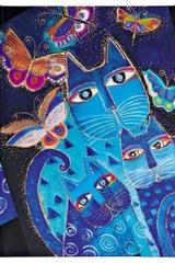 Gatos azules y mariposas Laurel Burch - Midi -  Paperblanks - Paperblanks