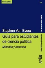 Guía para estudiantes de ciencia política - Stephen van Evera - Editorial Gedisa