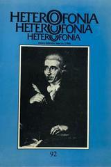 Heterofonía  #92 -  AA.VV. - Otras editoriales