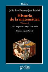 Historia de la matemática Volumen I - José Babini - Editorial Gedisa