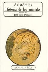 Historia de los animales -  Aristóteles - Akal
