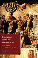 Historia judía, religión judía - Israel Shahak - Machado Libros