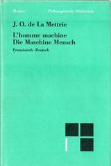 L'homme machine - Die Maschine Mensch - J.O. de la Metrie - Otras editoriales