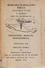 Instructivo y letras para los programas de educación musical radiofónica -  AA.VV. - Otras editoriales